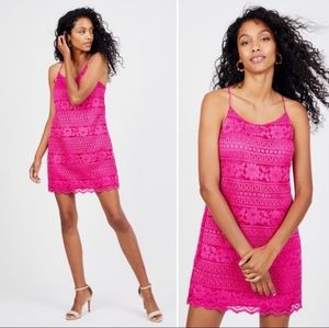 STATE PINK EMBROIDERED MINI DRESS SIZE S